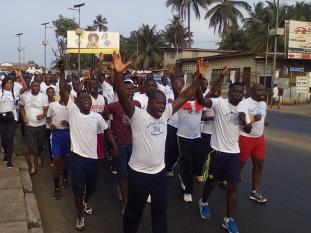 Running through Freetown